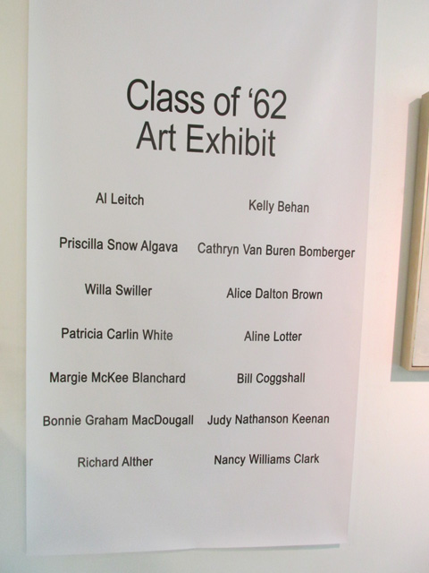 Classmates who participated in Class Art Exhibit.