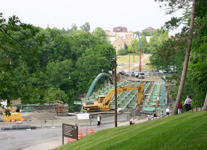 Triphammer Bridge construction