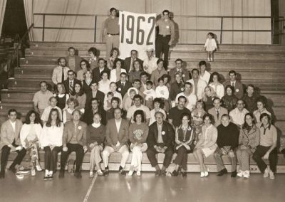 10th Reunion Group Class Photo in 1972