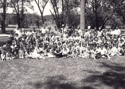 15th Reunion Group Class Photo in 1977