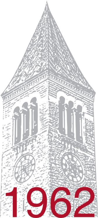 class logo with library tower