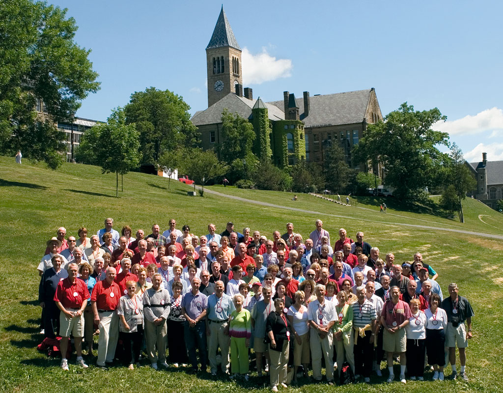 45th Reunion Class Photo on Libe Slope