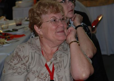 Cathy Bomgerger at luncheon