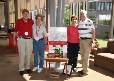 Houston and Diana Stokes with Dan and Carolyn Darminio Nugent 62 at reunion headquarters