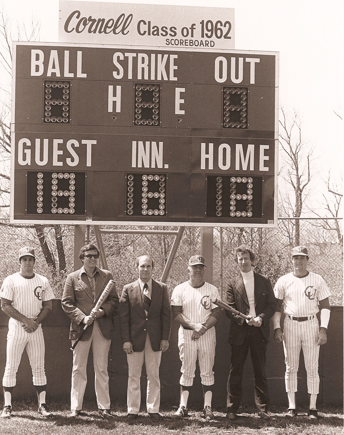 HOY FIELD SCOREBOARD dedication in 1979
