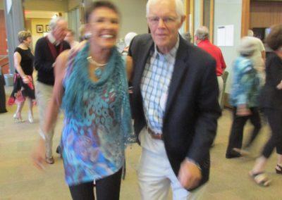 Mike and Joan Duesing dancing