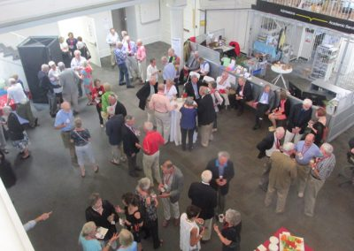 Overhead shot of reception in Sibley Dome
