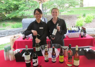 Reunion event with local wines and beer varieties