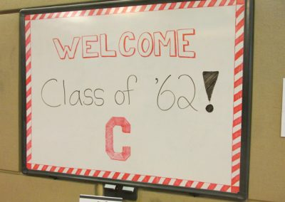Welcome Class of 62 sign