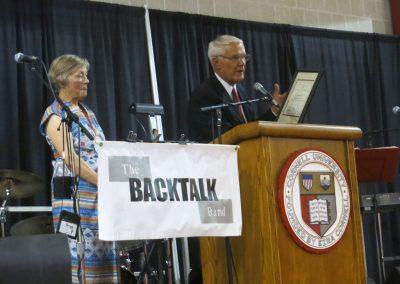 Vollmer Bleyler presentation at lecturn